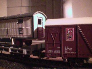 The Knie train cars have stunning levels of detail.